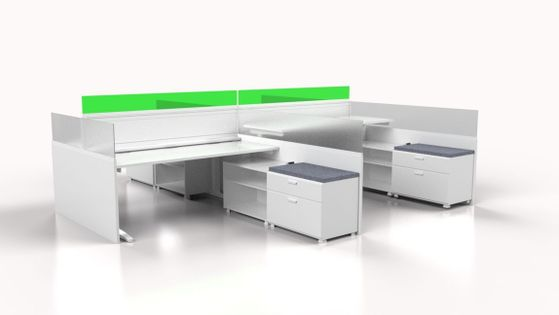 Modern Sit-Stand Workstations and Cubicles