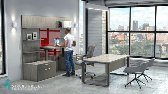 Height-Adjustable Executive Office Suite Design