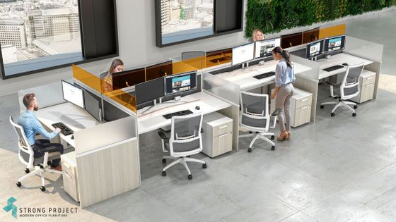 Modern Call Center Cubicles