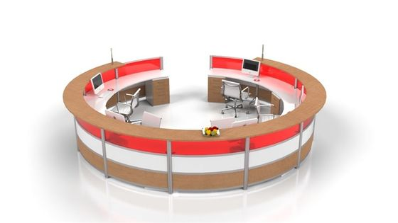 Large Circular Reception Desk Counter