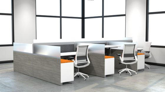 Contemporary Workstations with Sit-Stand Desks
