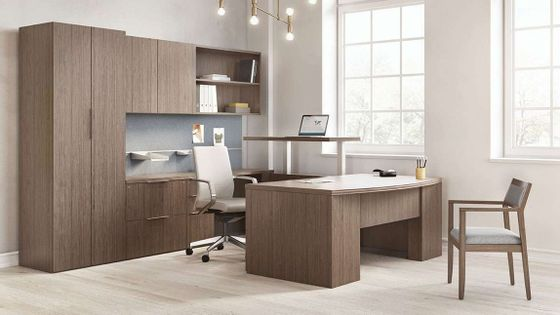Adjustable Height Executive Desk
