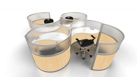 Curved Workstation Pods for Creative Office Spaces