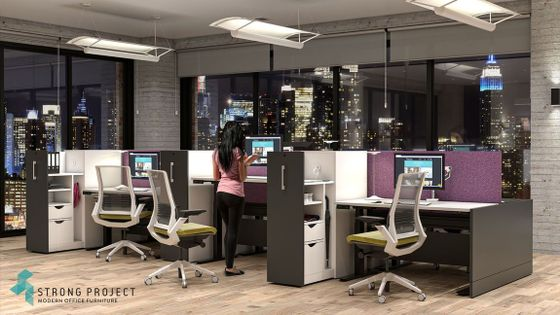 Modern Sit-Stand Cubicles