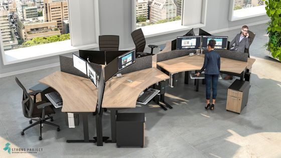 Colorful Height-Adjustable Workstations and Desks