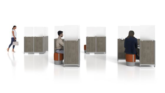 Personal Social Distancing Pods for the Open Office
