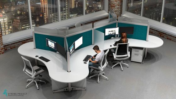 Office Social Distancing Furniture | Post COVID Cubicle Design