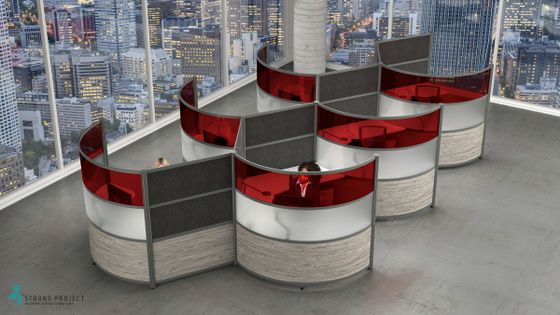 Curved Social Distancing Cubicles