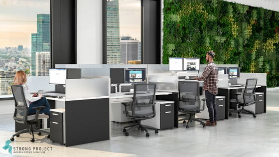 Compact Office Workstations for Desk Hoteling