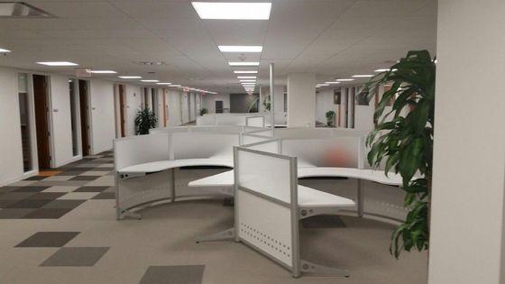 futuristic office furniture. Curved Workstations - Futuristic Office Furniture
