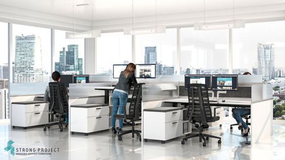 Modern Height Adjustable Cubicles
