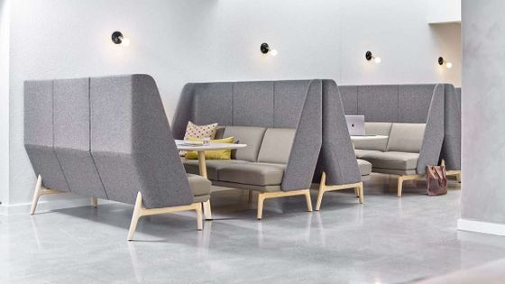 High-Back Acoustic Furniture Solutions for Open Plan Office Areas