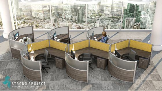 Curved Executive Cubicles