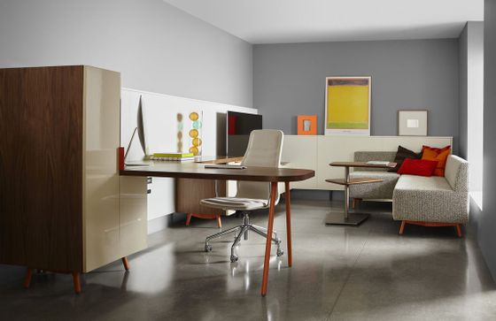 Modern office desks glass desks executive office furniture for Personal office design