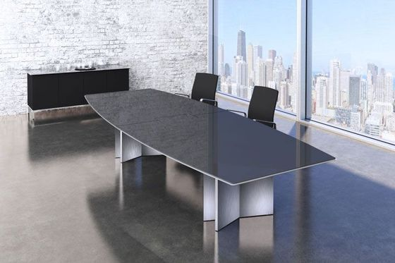 Black Glass Conference Tables - Black glass conference table
