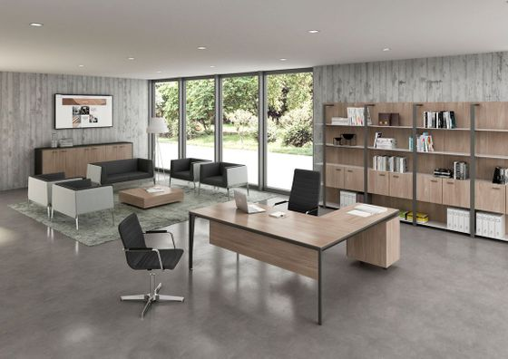 Modern minimalist office desks for Modern minimalist office design