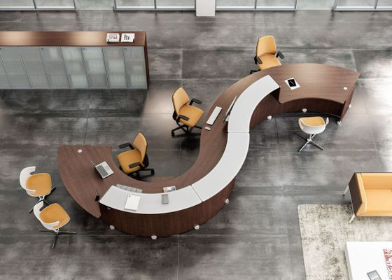 Unique Curved Reception Desks