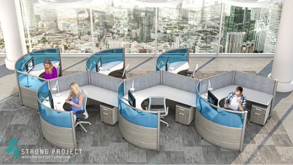 Modern Curved Cubicles