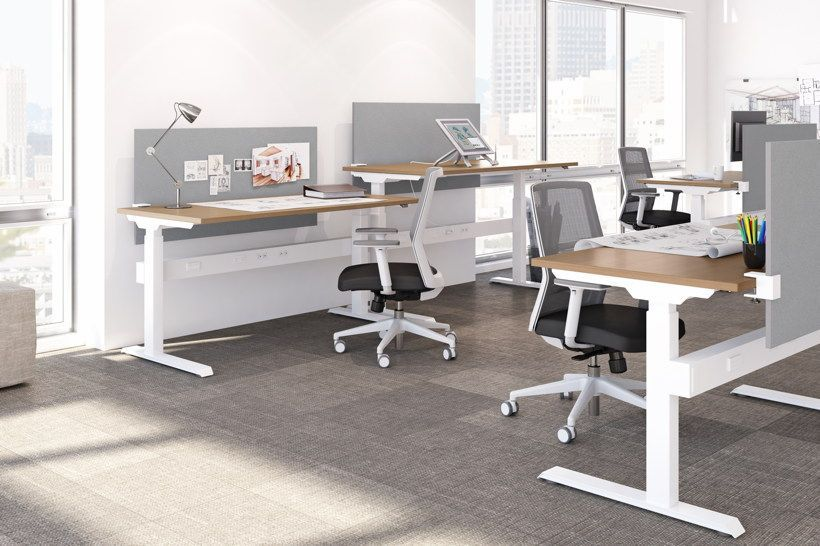 Ergonomic Adjustable Height Computer Desks